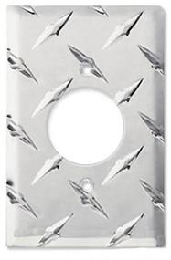Diamond Plate Aluminum 230 VAC Round Plug