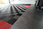 Race Deck Diamond Tile and Free Flow Interlocked