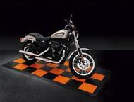 Black and Orange Harley Davidson Race Deck Tiles