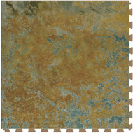 Perfection Floor Tile Natural Stone Flexible Interlocking Tile, Imperial Gold