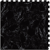 Perfection Floor Tile Natural Stone Series Black Marble, Flexible Interlocking Tiles