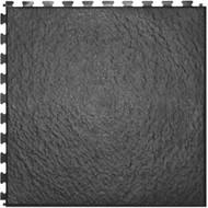 Home Style Slate Pattern Interlocking Tile Black