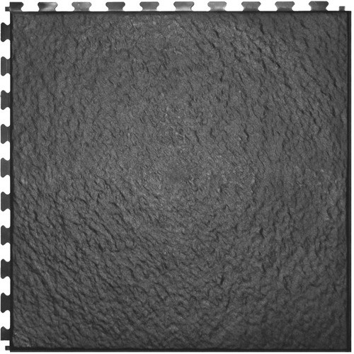 Perfection Floor Tile Home Style Slate Pattern Interlocking Tile Black