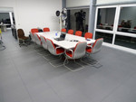 Perfection Floor Tile HomeStyle Slate, flexible interlocking tiles.  Used for conference room flooring.