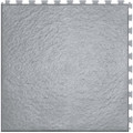 Perfection Floor Tile Slate Pattern Interlocking Tile Light Grey