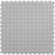 Perfection Floor Tile Coin Pattern Light Grey