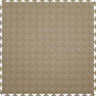 Perfection Floor Tile, Coin Beige Flexible Interlocking Tiles