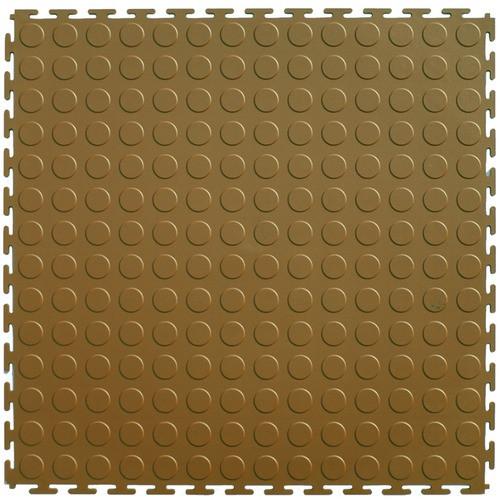 Perfection Floor Tile Coin Pattern 205 X 205 X 45mm Tan Flexi