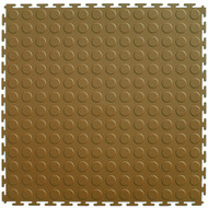 Perfection Floor Tile Coin Pattern Tan