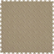Perfection Floor Tile Diamond Pattern Beige, flexible interlocking tiles