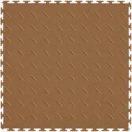 Perfection Floor Tile Diamond Pattern Tan, flexible interlocking tiles.