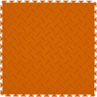 Perfection Floor Tile Diamond Pattern Orange, flexible interlocking tiles.