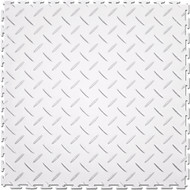 Flexi Tile Perfection Floor Tile Diamond Pattern White
