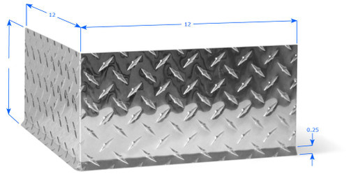 Mx Diamond Plate Wall Base Molding 17 Ga 2 Quot H Ourside Corner