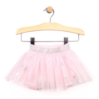 Foil printed tutu for baby and toddler girls. Front view.