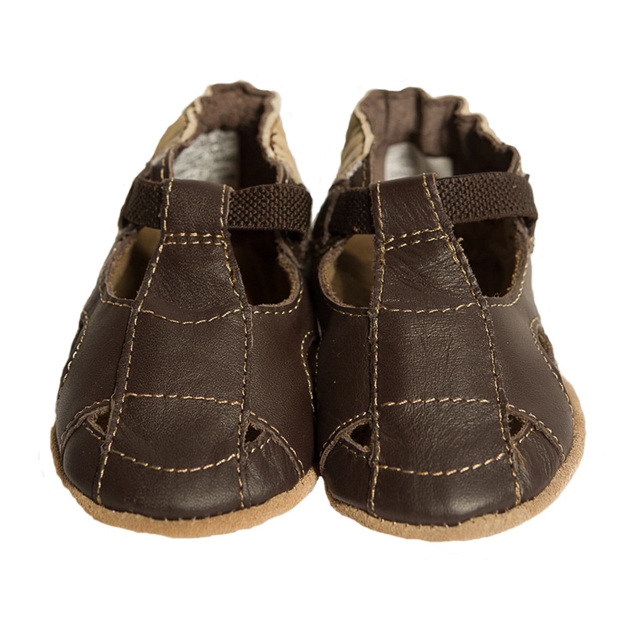 Robeez Fisherman Sandal Baby Shoes Brown