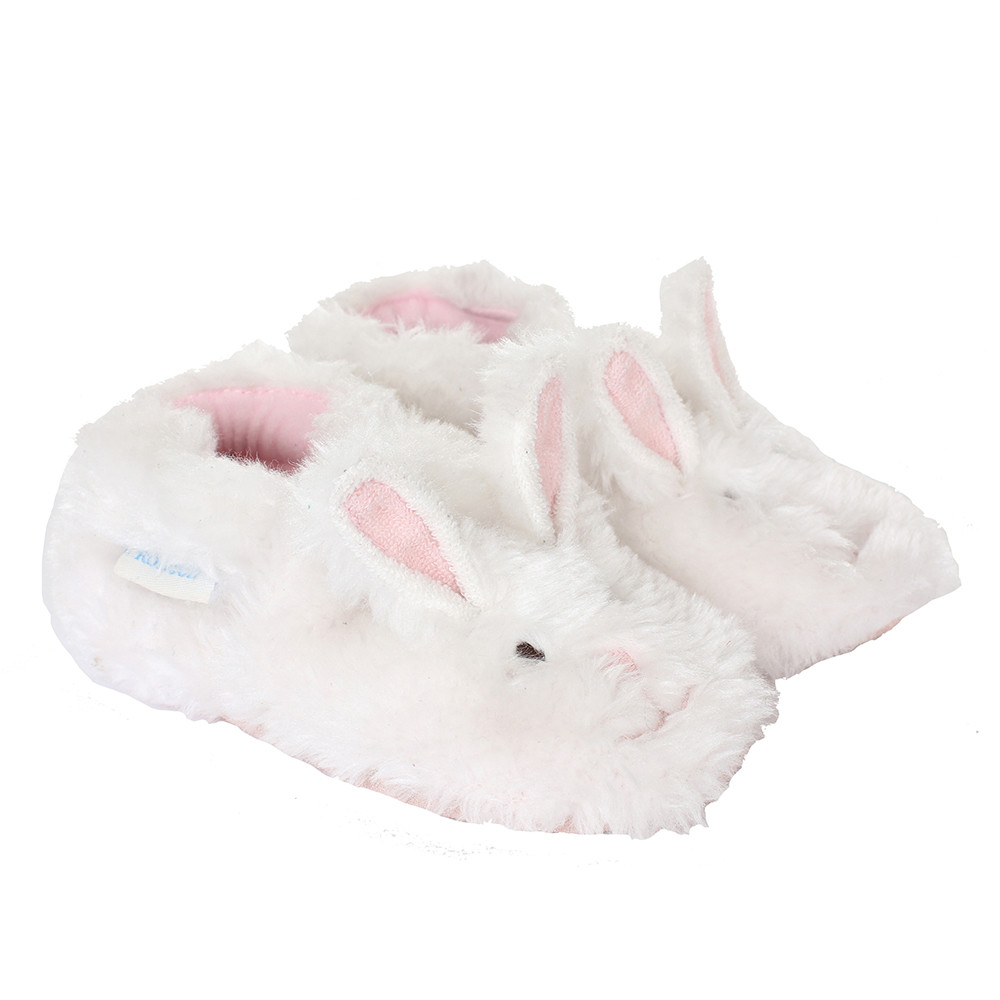 Robeez Fuzzy Bunny Soft Soles,White, Girls, Baby, Infant, Pre-Walker, Toddler, Shoes,  0-24 Months, side