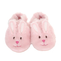 Robeez Fuzzy Bunny Baby Shoes Pink