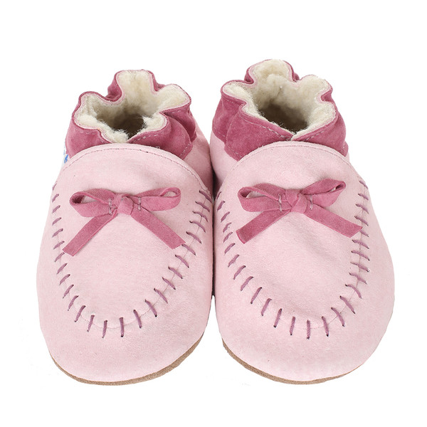 Robeez Cozy Moccasins Baby Shoes Pink