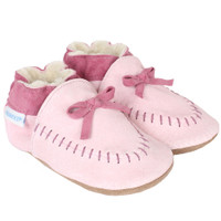 Robeez Cozy Moccasin Soft Soles, Pink, Girls, Baby, Infant, Pre-Walker, Toddler, Shoes, 0-24 Months, side