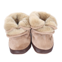 Robeez Cozy Ankle Tan Baby Boots