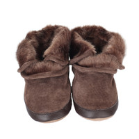 Robeez Cozy Ankle Brown Baby Boots