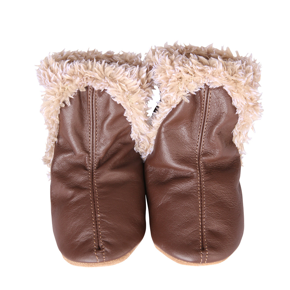 Robeez Classic Baby Boots Brown