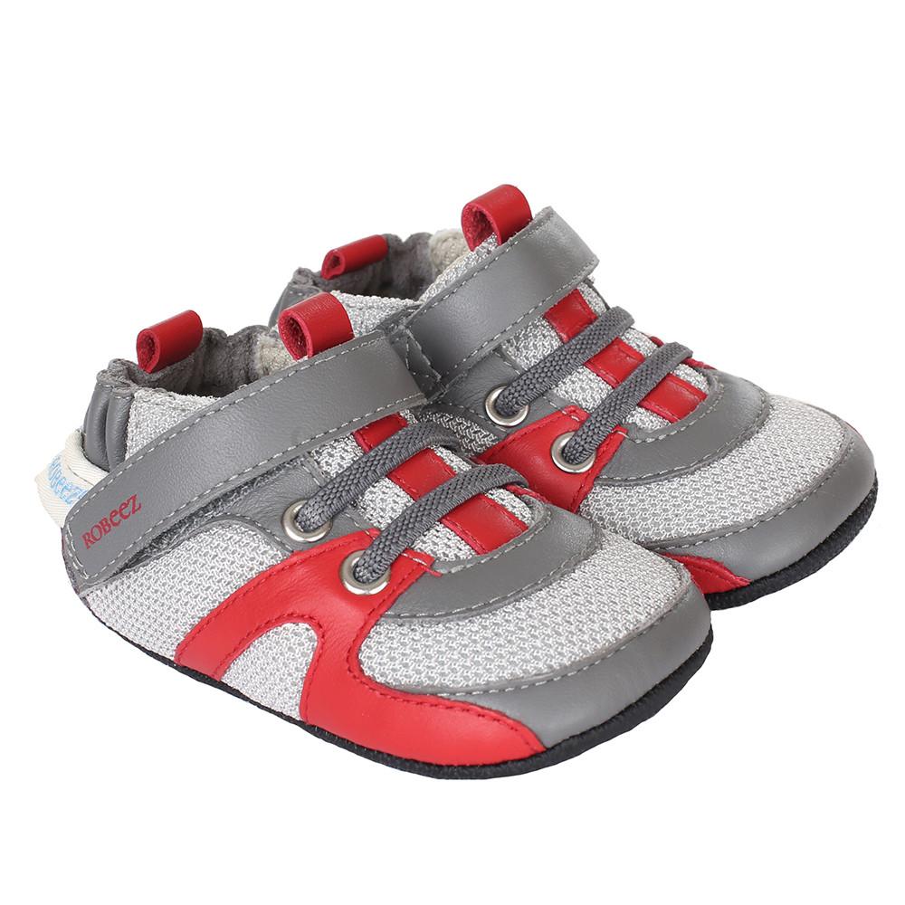 Robeez Henry Mini Shoez, Grey, Boys, Baby, Infant, Pre-Walker, Toddler,  3-24 Months, side