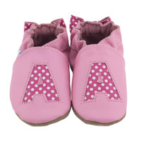 Monogram Baby Shoes, Pink