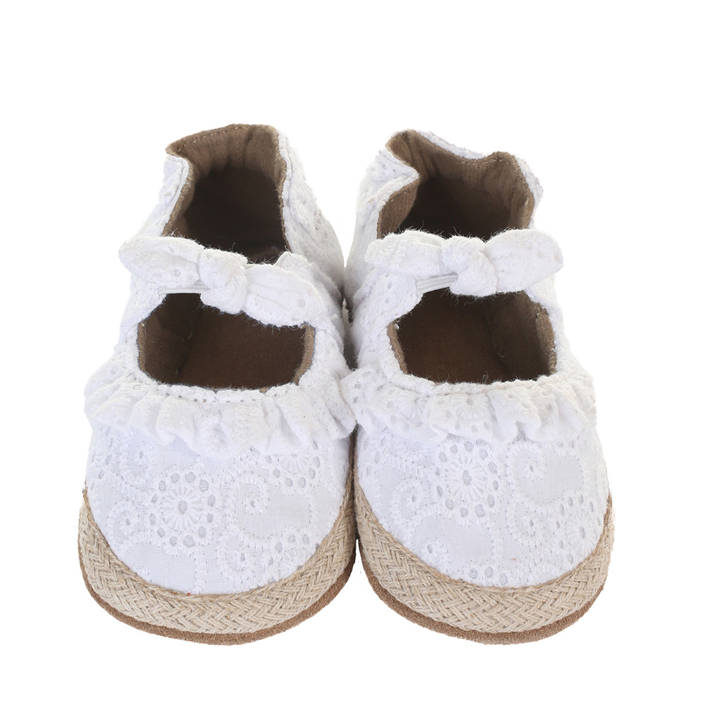 Sunshine Espadrille Soft Soles Baby Shoes White
