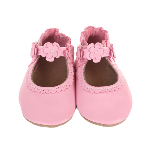 Robeez Claire Baby Shoes Pink