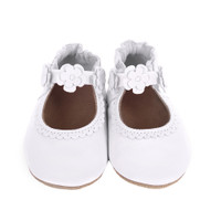 Robeez Claire Baby Shoes White