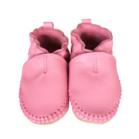 Robeez Classic Moccasin Pink leather