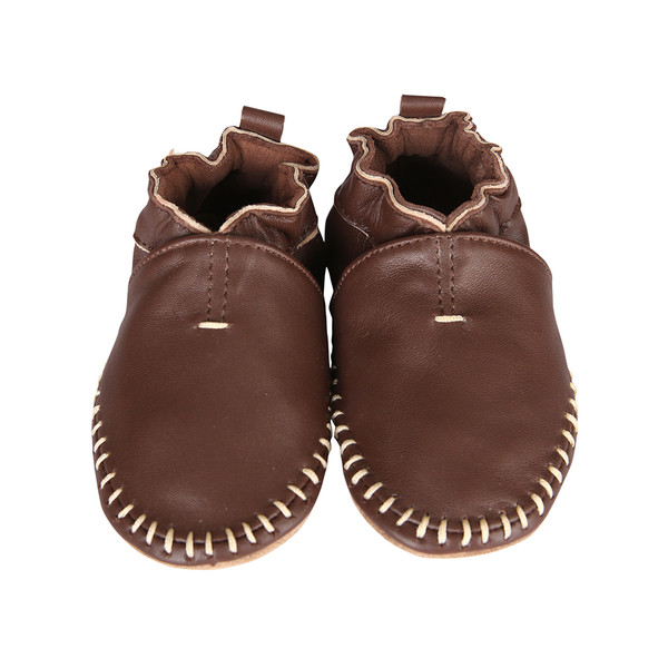 Robeez Classic Moccasin Brown leather