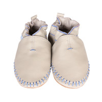 Robeez Classic Moccasin Grey Leather