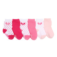 Robeez Playful Pink Baby Socks