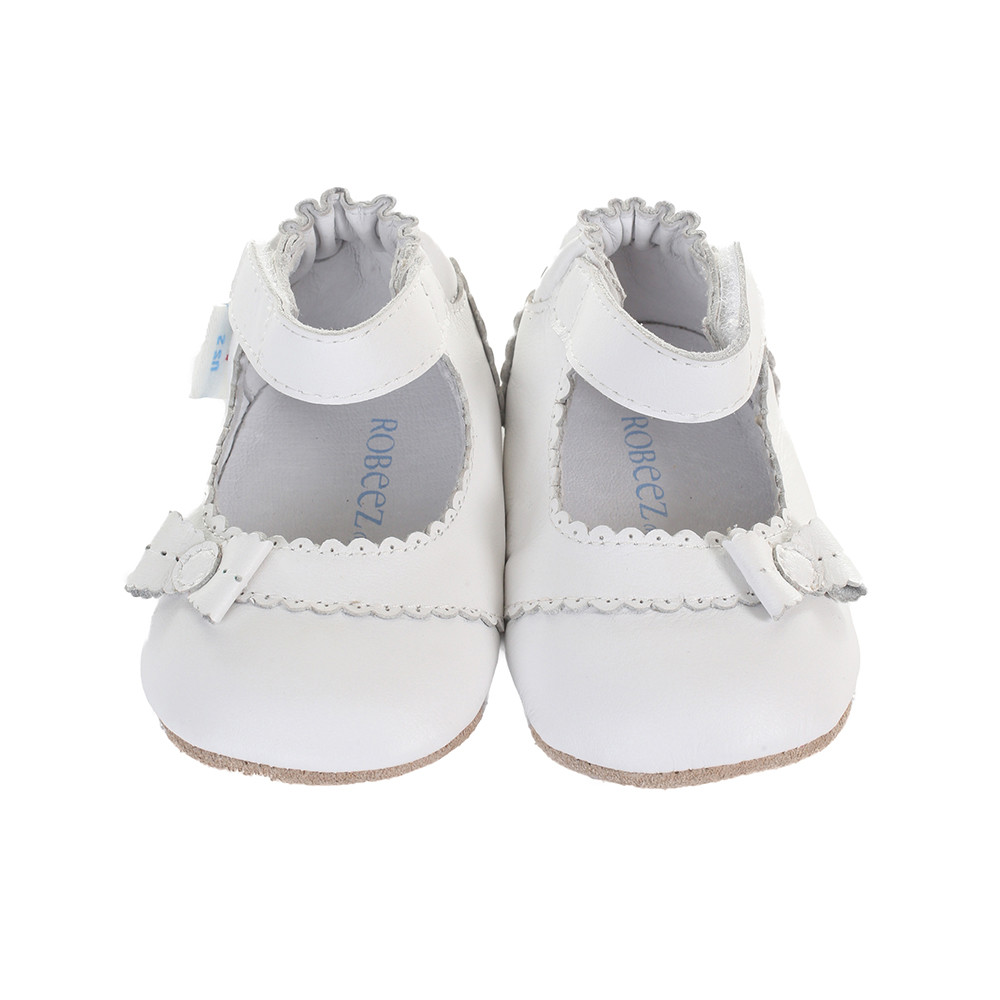 Robeez Catherine Baby Shoes White