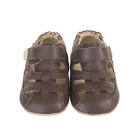 Brown Colorblock Sandal Baby Shoes