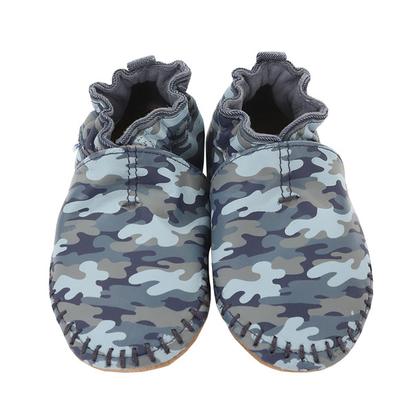 Robeez Classic Leather Moccasin Camo