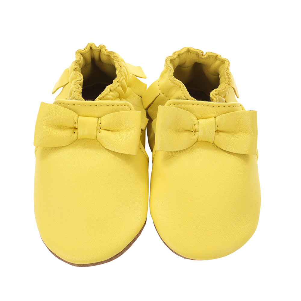 Robeez Maggie Moccasin Baby Shoes Yellow