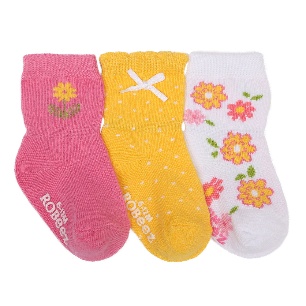 flower garden baby socks 3 pack robeez
