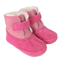 Galway Cozy Bootie Baby Boots, Pink, Soft Soles
