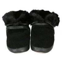 Cozy Ankle Baby Boots, Black, Soft Soles