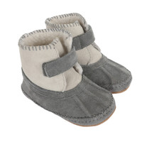 Galway Cozy Baby Boots, Grey, Soft Soles