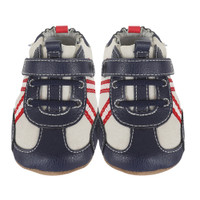 Navy grey red baby shoes