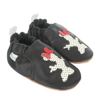 Minnie Silhouette Baby Shoes, Soft Soles