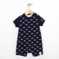 Navy one piece, onesie, romper for infants and babies, part of our baby apparel line.