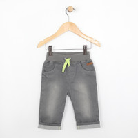 Grey jeans with green tie for babies and infants.  Part of our new infant clothing line.