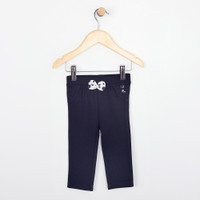 Navy blue cotton pant for baby, infant and toddler girls.  Part of our new baby apparel line.