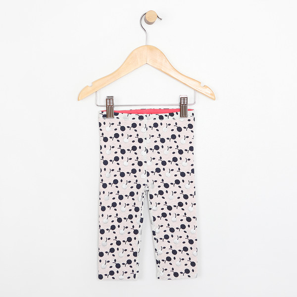 Reversible pink and cherry pattern cotton pants for baby, infant and toddler girls.  Part of our new baby apparel collection.